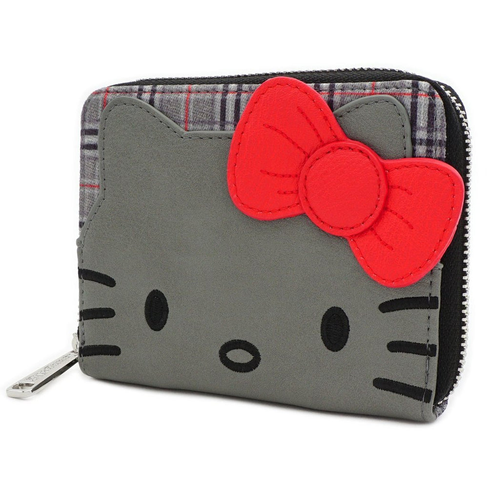 Loungefly Hello Kitty | Grey Kitty (Kariert) Geldbeutel - Stuffbringer