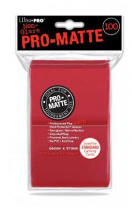 Ultra Pro | Pro Matte Red Sleeves - Stuffbringer