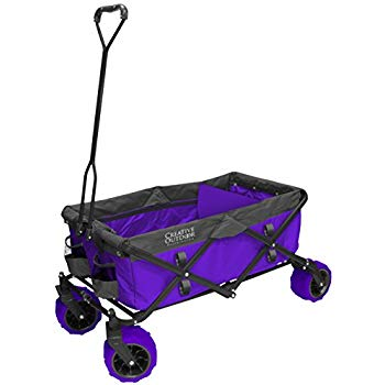 All-Terrain Folding Wagon | Purple/Grey