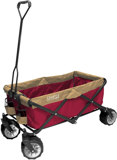 All-Terrain Folding Sports-Team Wagon, (Red/Brown)