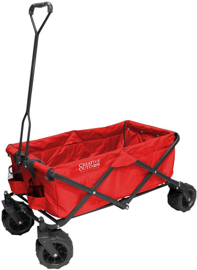 All-Terrain Folding Wagon, (Red)