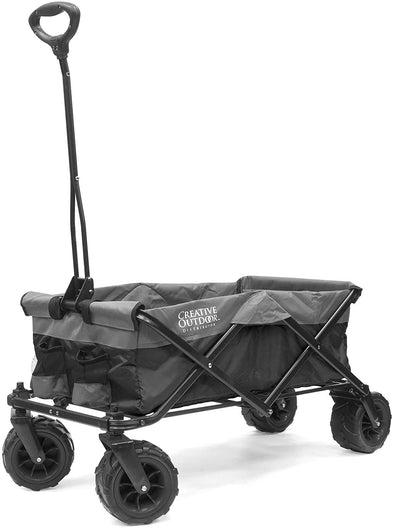 All-Terrain Collapsible Folding Wagon | Black