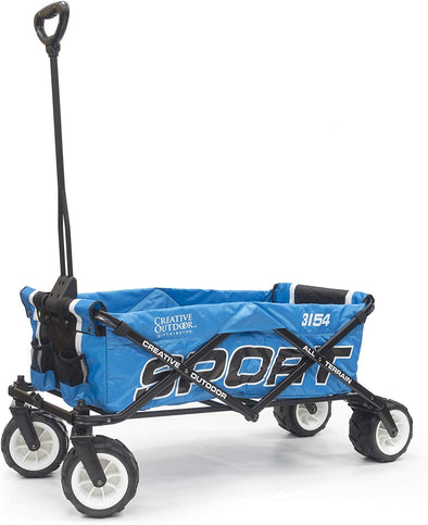 All-Terrain SPORT Folding Wagon | Black Blue