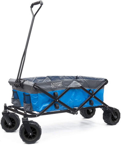 All-Terrain Folding Wagon | Blue/Grey