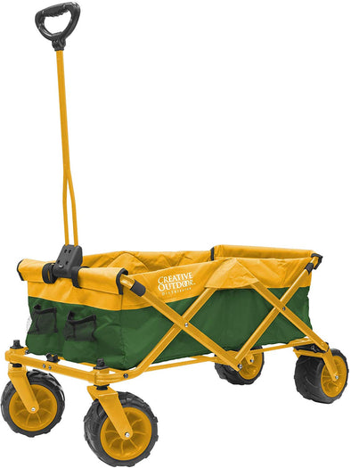 All-Terrain Collapsible Folding Wagon | Green & Yellow