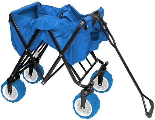 All-Terrain Collapsible Folding Wagon | Cool Blue