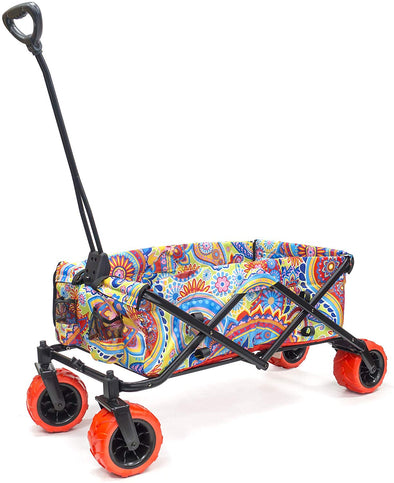 All-Terrain Collapsible Folding Wagon | Paisley Yellow