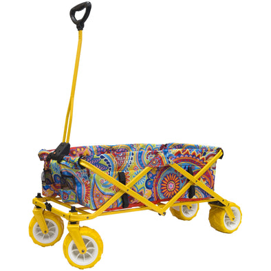 All-Terrain Paisley Folding Wagon