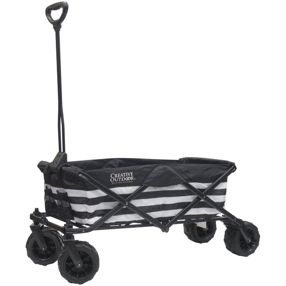 All-Terrain Folding Wagon | Black and White Stripes