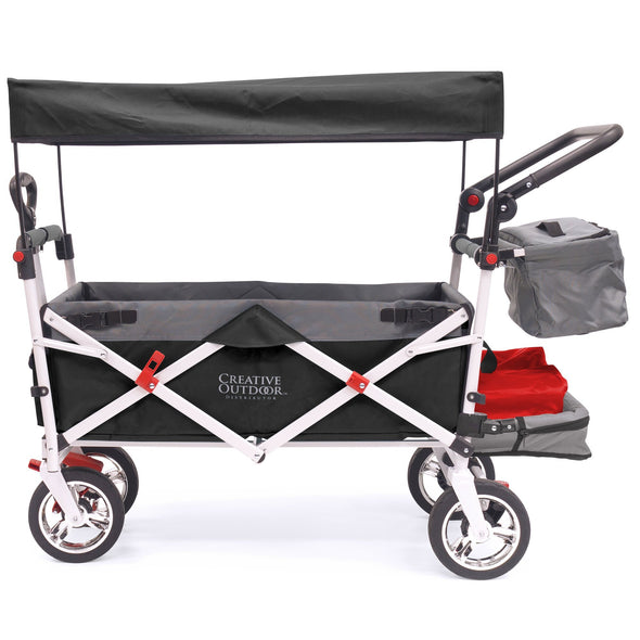 Silver Series Push Pull Folding Stroller Wagon Black