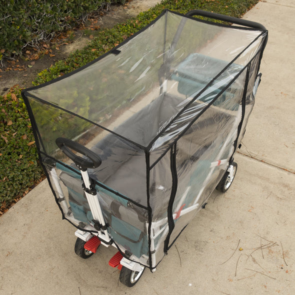 Push Pull Folding Wagon Rain Cover Accessory Front View