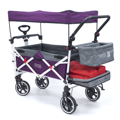 Push Pull Folding Stroller Wagon Titanium Series Purple