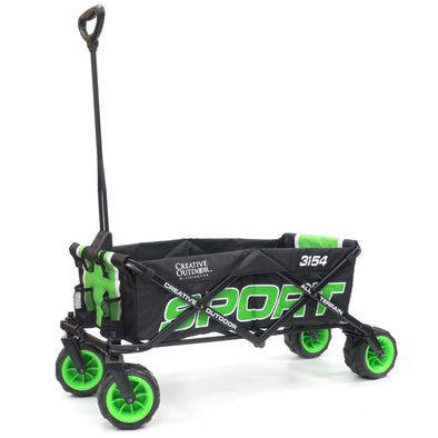 All-Terrain SPORT Folding Wagon | Black Green