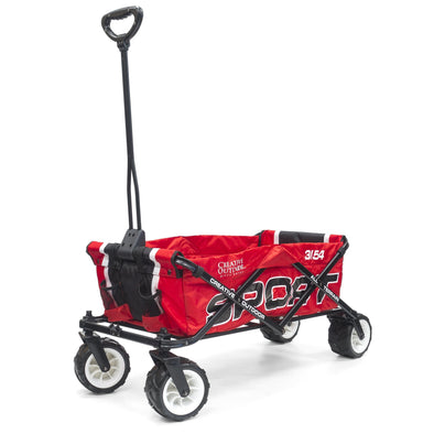 All-Terrain SPORT Folding Wagon | Red Black