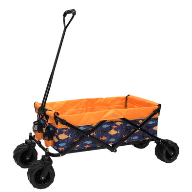 All-Terrain Collapsible Folding Wagon | Fish Print