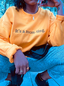 Gold Mom-Tings Crew Neck