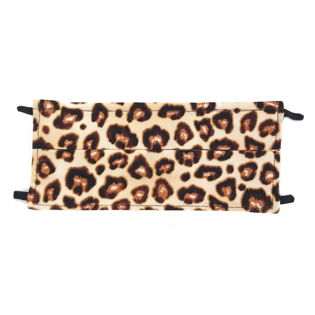 Cheetah Animal Print - Hand Made Cotton Face Mask with Pockets