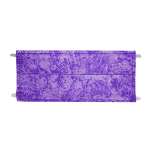 Purple Dragonfly Print - Hand Made Cotton Face Mask with Pockets