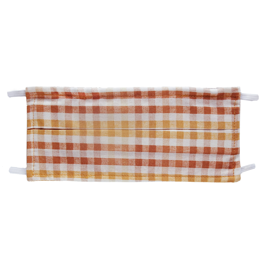 Fall Plaid Print - Hand Made Face Mask