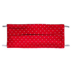 Red Polka Dot Print - Hand Made Cotton Face Mask with Pockets