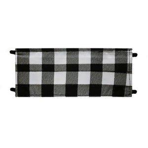 Black Plaid Print - Hand Made Face Mask