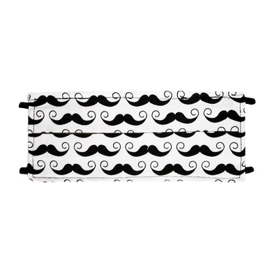 Mustache Print - Hand Made Face Mask