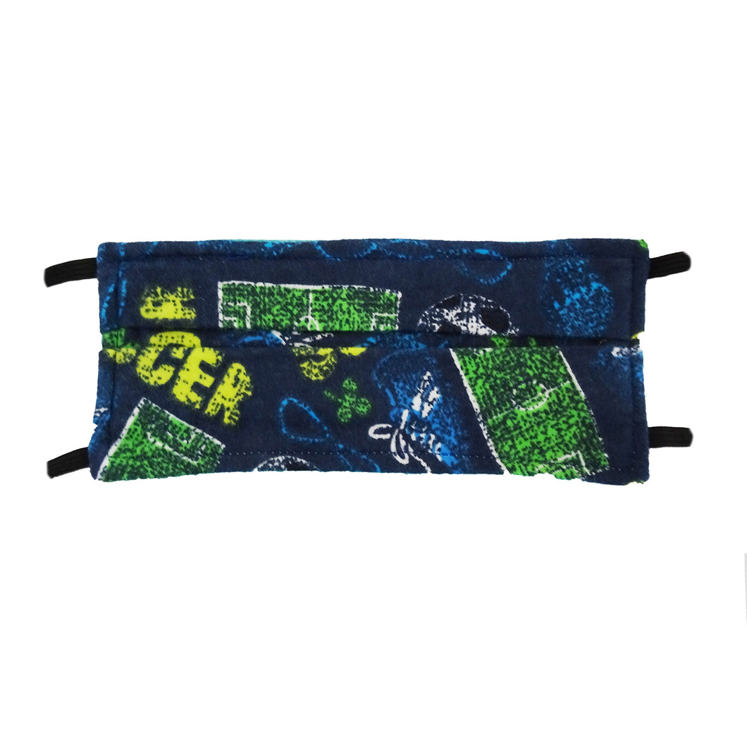 Soccer Print - Hand Made Face Mask