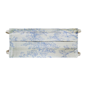 Lt Blue Toile Print - Hand Made Cotton Face Mask with Pockets