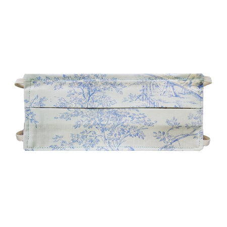 Lt Blue Toile Print - Hand Made Face Mask