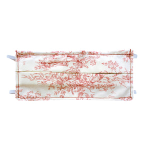 Red Toile Print - Hand Made Cotton Face Mask with Pockets