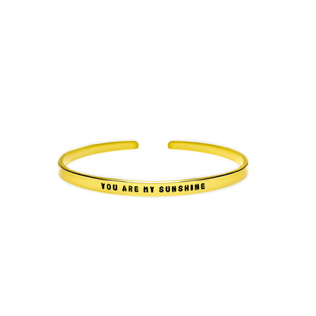 You Are My Sunshine Cuff Bracelet