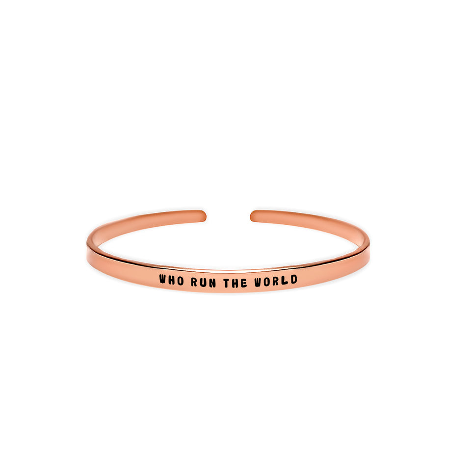 Who Run the World Cuff Bracelet