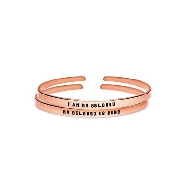 I Am My Beloved | My Beloved Is Mine Cuff Bracelet Set