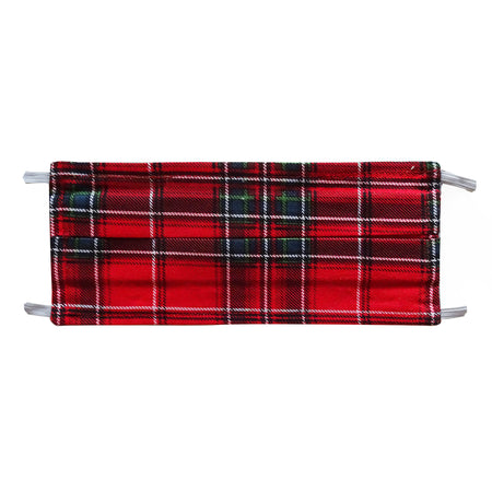 Christmas Plaid Holiday Print - Hand Made Face Mask