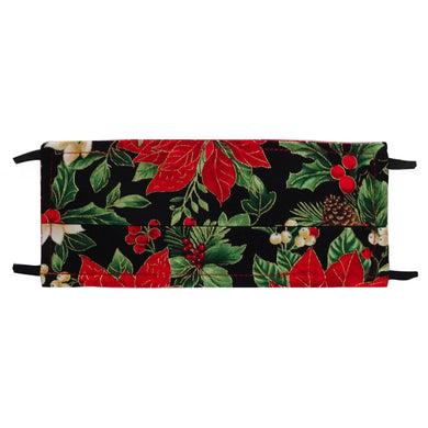 Pointsettias Holiday Print - Hand Made Face Mask