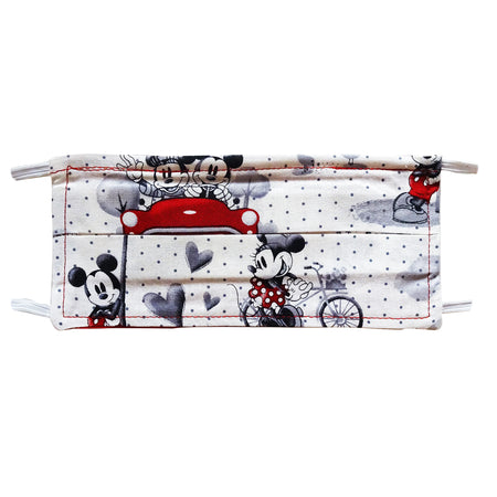 Mickey & Minnie Holiday Print - Hand Made Face Mask