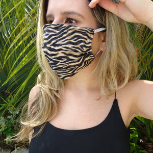Animal Print - Hand Made Cotton Face Mask with Pockets