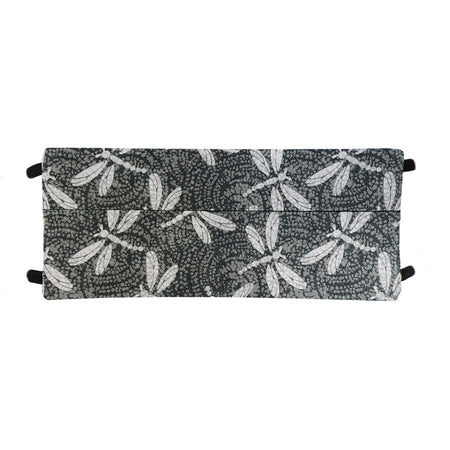 Gray Dragonfly Print - Hand Made Face Mask