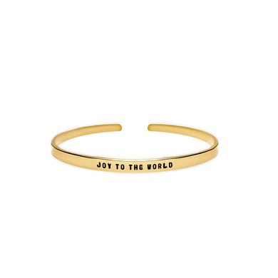 Joy to the World Cuff Bracelet