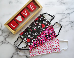 Love Explosion Print - Hand Made Face Mask