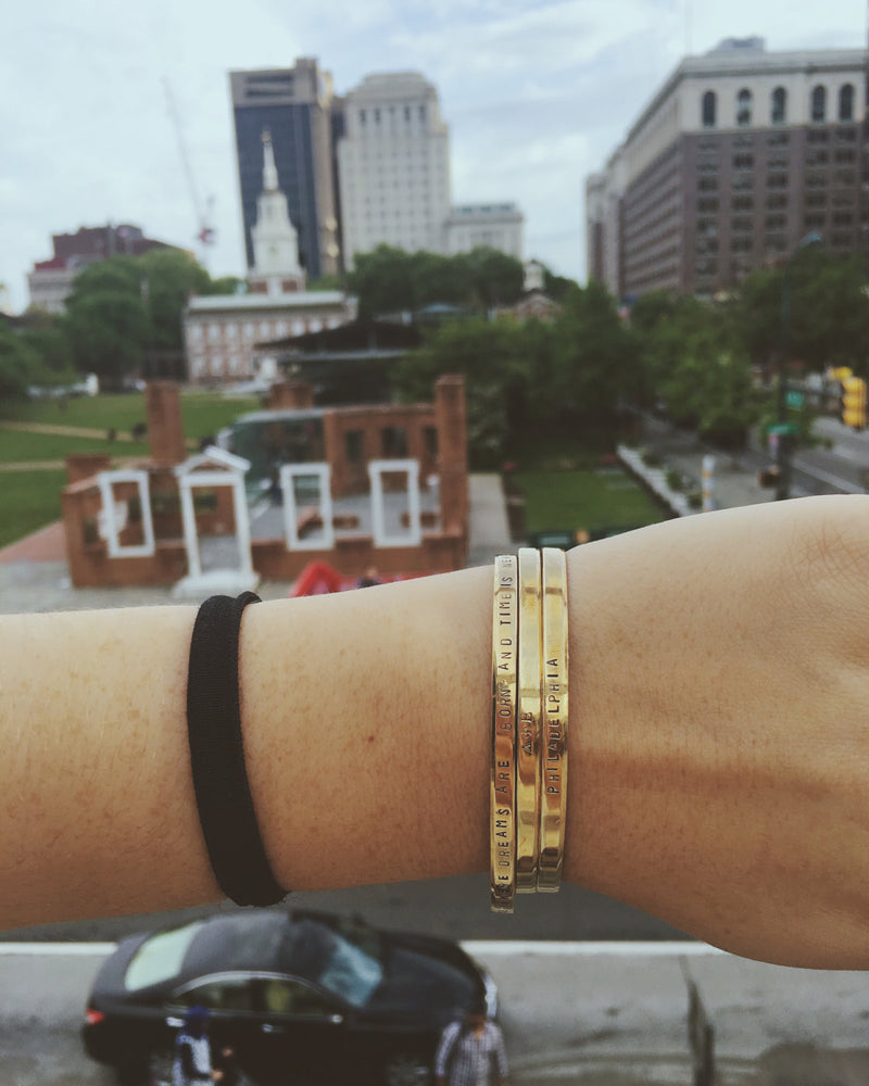 Custom City Name <br> Cuff Bracelet