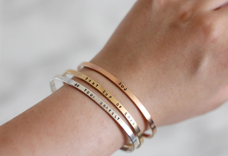 Because I Knew You | I Have Been Changed For Good Cuff Bracelet Set