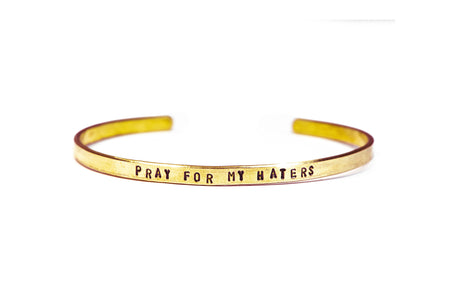 Pray For My Haters Cuff Bracelet
