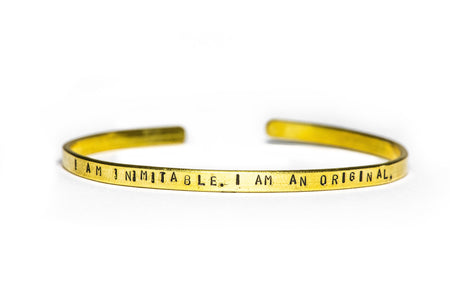I Am Inimitable. I Am An Original. Cuff Bracelet
