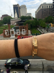 Philadelphia Phrases Cuff Bracelets
