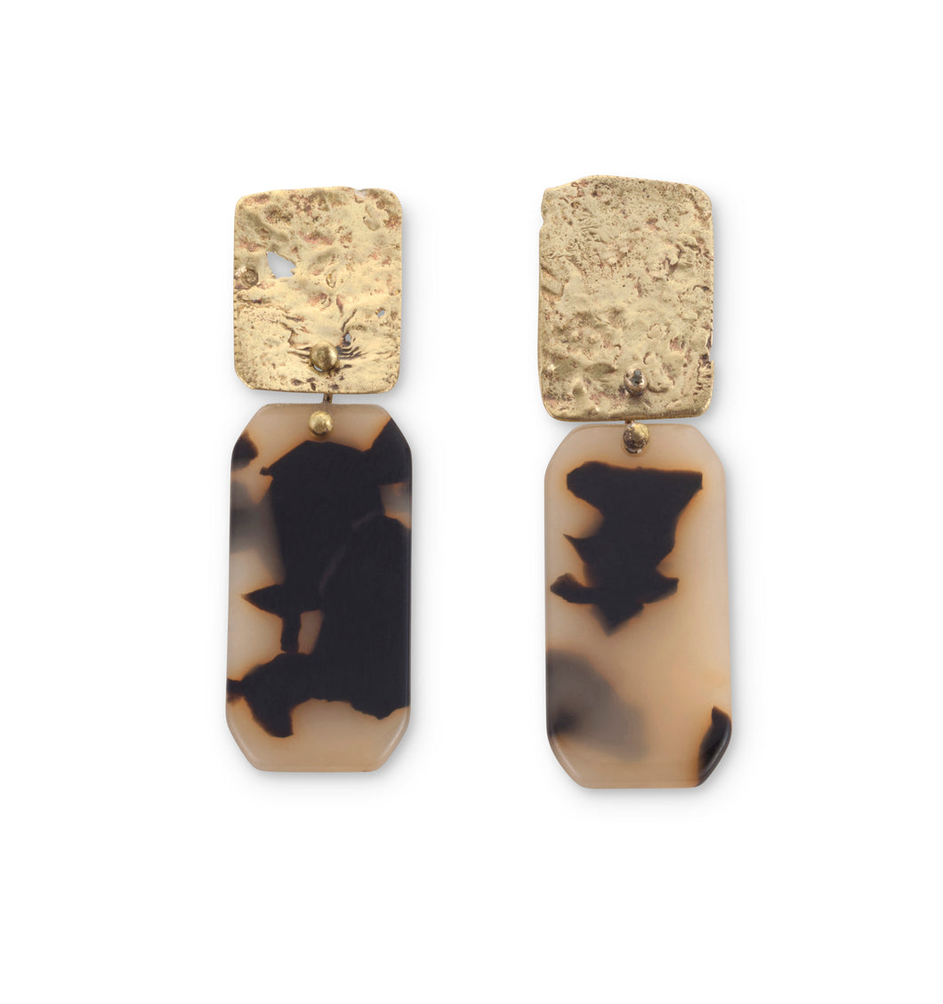 Asymmetric Rectangle Earring