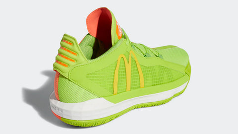 Adidas Dame 6 McDonald's Sweet and Sour Sauce basketball shoes
