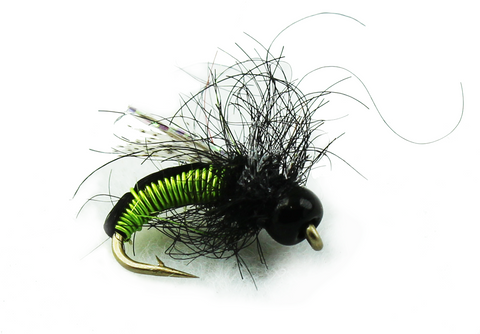 Bead Head Hot Wire Caddis Chartruese, Discount Trout Flies for Fly fishing,Quality Fly Fishing Flies