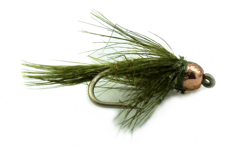 Bird's Nest Bead Head Olive, Discount Trout Flies for Fly fishing