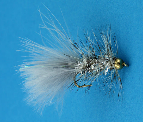 BH Micro Crystal Micro Bugger Grey,Discount Trout Flies,Dryflyonline